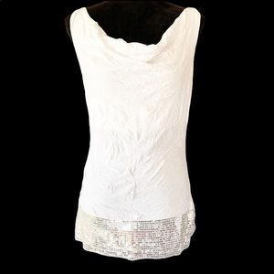 Windsor white sleeveless top with sequin